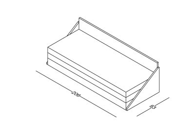 Lezaj Ana razvlacenje preklop-Model.jpg izometrija1 , linija 1mm