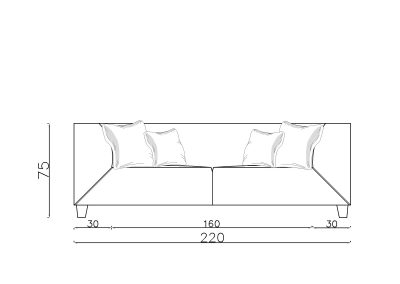 Sofa Grofica 2-Model.jpg front, linija 1mm