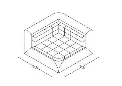 Ugaoni segment Ana-Model.jpg izometrija, linija 1mm
