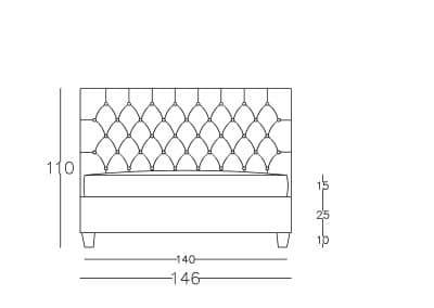 Francuski krevet VIII čester-Model.jpg front, linija 1mm