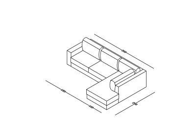 Ugaona garnitura Milica Zoja-Model izometrija, linija 1mm