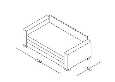 Trosed Maša razvlacenje-Model.jpg 160x190, izometrija1, linija 1mm